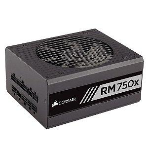 Fonte Corsair 750W 80 Plus Gold Modular RM750X - CP-9020092