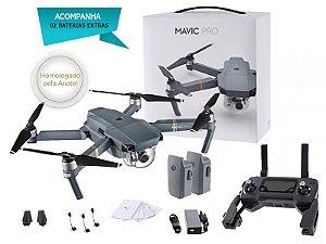 DRONE DJI EB MAVIC PRO C/ DUAS BATERIAS EXTRAS