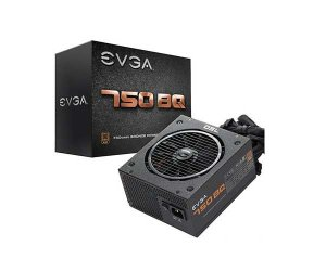 Fonte EVGA 750 BQ 80+ BRONZE 750W Semi Modular - PN # 110-BQ-0750-V1 ( Sem Cabo De Força )
