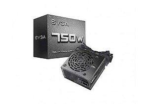 Fonte EVGA 750 N1 750W L0 - PN # 100-N1-0750-L0 ( Sem Cabo De Força )