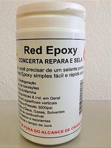 Solda fria Red Epoxy Para Metais Plasticos e Ar Condicionado