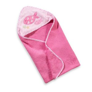 Toalha de Banho Bebê Rosa com Capuz Clingo