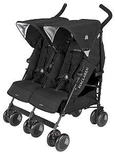 Carrinho Bebê Gêmeos Maclaren Twin Techno Black