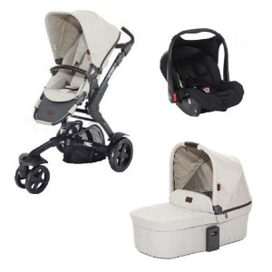 Combo Carrinho Bebê 3 Tec + Bebê Conforto + Moisés + Adaptador ABC Design