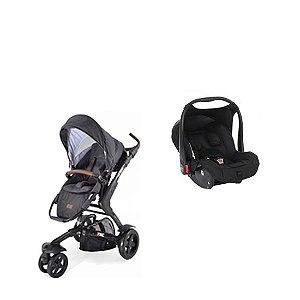 Carrinho Bebê 3 Tec com Bebê Conforto e Adaptador ABC Design