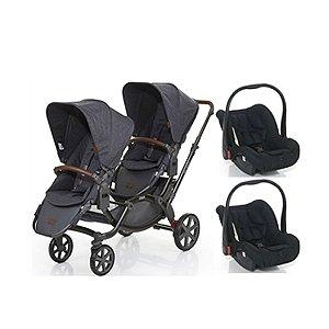 Carrinho de Gêmeos com Bebê Conforto ABC Design