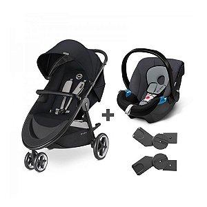 Travel System Carrinho Agis M air 3 + Bebê Conforto Aton Cybex