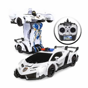 Carrinho de Controle Remoto Polícia Transforms Robô