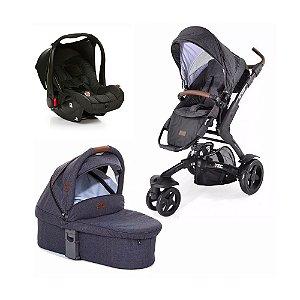 Carrinho 3 Tec com Bebê Conforto e Moisés ABC Design