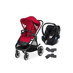 Carrinho de Bebê Balios M + Aton 5 Preto Cybex