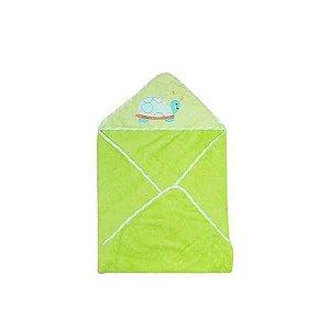 Toalha de Banho Bebê com Capuz Verde Clingo
