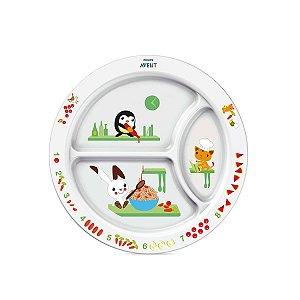 Prato de Alimentação Infantil com Divisória Avent (12m+)