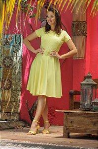 CF0016 - Vestido Amarelo em Crepe