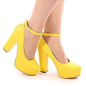 SL12063 - Meiapata salto 12cm amarelo girassol