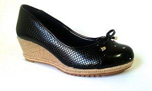 SL4041 - Anabela Preta salto 5cm