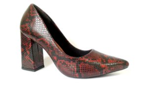 SL9100 - Scarpin salto bloco animal print