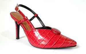 SL8600 - Scarpin Chanel Croco Vermelho