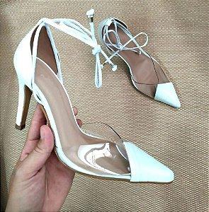 SL1714 - Scarpin Chanel Vinil branco Salamanta