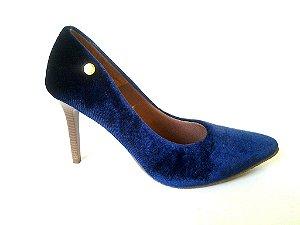 SL6300 - Scarpin Veludo Azul 9cm