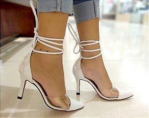 1023 - Scarpin Chanel Branco 2 em 1