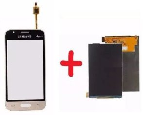Combo Frontal Display Touch Galaxy J1 Mini J105 Dourado
