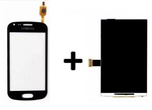 Combo Frontal Display Touch Galaxy S Duos S7562 7562 Preto