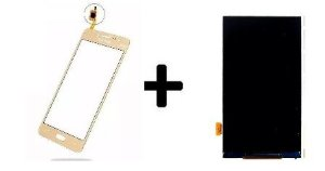 Combo Frontal Display Touch Galaxy J2 Prime G532 Dourado