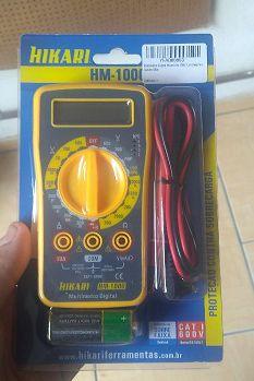 Multímetro Digital Hikari Hm 1000 Lcd Beep Bip Sonoro 600v