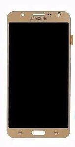 Combo Frontal Display Touch Galaxy J700 J7 Dourado
