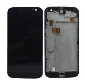 Combo Frontal Display Touch Moto G4 XT1626 Preto