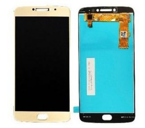 Combo Frontal Display Touch Moto E4 Plus XT1773 XT1770 Dourado