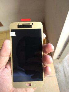 Combo Frontal Display Touch Moto G5 xt1672 Dourado