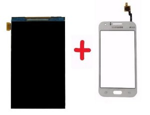 Combo Frontal Display Touch Galaxy J1 J100 Branco