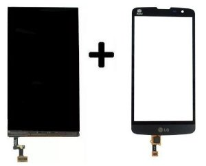 Combo Frontal Display Touch Lg L Prime D337 Preto