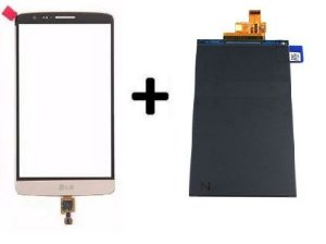 Combo Frontal Display Touch LG G3 Stylus D690 d690 Dourado