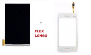 Combo Frontal Display Touch Galaxy Ace 4 Sm G316 Flex Longo Branco
