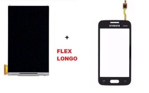 Combo Frontal Display Touch Galaxy Ace 4 Sm G316 Flex Longo Preto