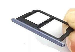 Bandeja Chip Gaveta Sim Card Moto G5s Plus Xt1803 Azul