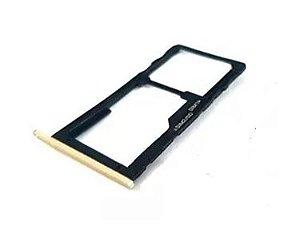 Bandeja Chip Gaveta Sim Card Moto G5s Xt1792 Dourado