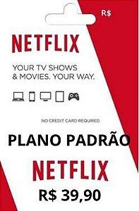 Mensalidade Cartão Pré Pago Netflix Plano Padrão R$39,90