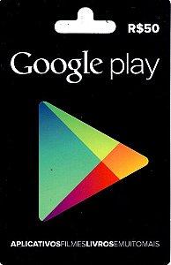 Cartão Google Play R$50 Reais - Play Store Gift Card Brasil