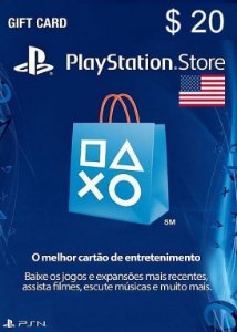 Cartão PSN Store Americana $20 Dólares - Playstation Network Card