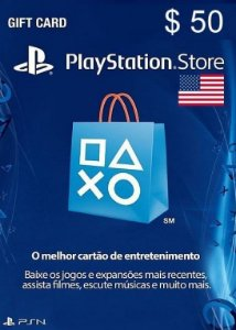 Cartão PSN Store Americana $50 Dólares - Playstation Network Card