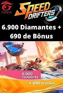 Speed Drifters - 6.900 Diamantes + 690 de Bônus [Recarga]