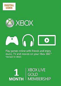 Cartão Xbox Live Gold - Assinatura Xbox Live Gold 1 Mês
