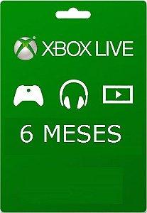 Cartão Xbox Live 6 Meses - Assinatura Xbox Live Gold