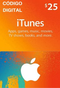 Gift Card Apple $25 Dólares - iTunes Gift Card USA