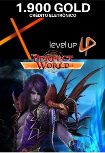 Perfect World 1.900 Gold - Level Up Cartão Pré Pago