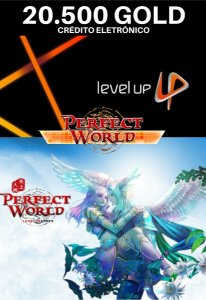 Perfect World 20.500 Gold - Level Up Cartão Pré Pago