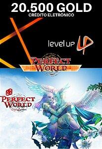 Perfect World 20.500 Gold - Level Up Cartão Pré Pago